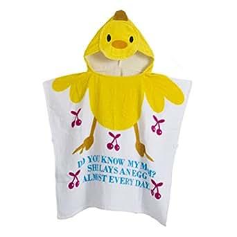Gagacity Unisex Bambini Teli da Poncho da Bagno Con Cappuccio,Coperta Morbida Cotone di Balneazione Wrap Vestaglia per 1-6 anni/Anatra gialla