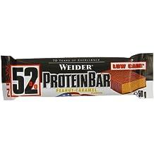 Weider 52% Protein Barre Peanut Butter-Caramel 24 x 50 gm