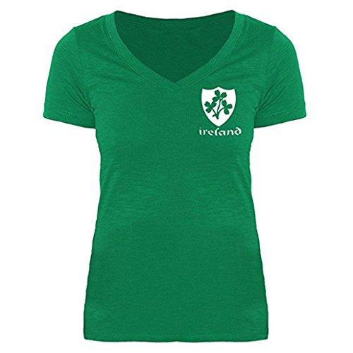DRESS_start Damen st. Patrick's Day Shamrock grün Casual Bluse Shirts Kurzarm t-Shirt mit v-Ausschnitt lose Tops t-Shirt grün ()