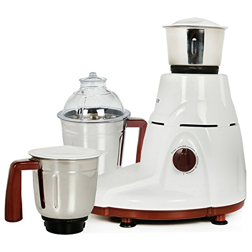 Eveready Sin750L Mixer Grinder with 3 Jars (White)