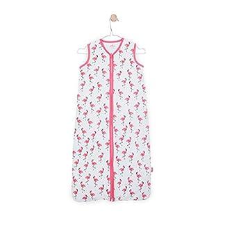 Jollein 048–529–65117Saco de dormir Verano Jersey Flamingo, 110cm, color rosa