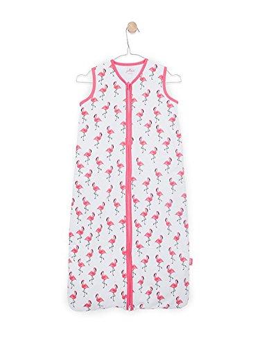 41xDAkIIYdL - Jollein 048-529-65117Saco de dormir Verano Jersey Flamingo, 110cm, color rosa