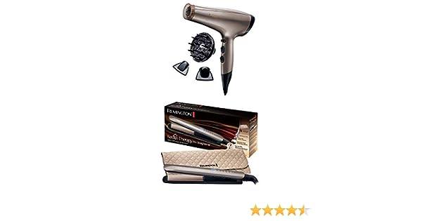 Remington Coffret Cadeau Set de Coiffure Sèche Cheveux Keratin Protect et Lisseur Keratin Therapy AC8002 et S8590