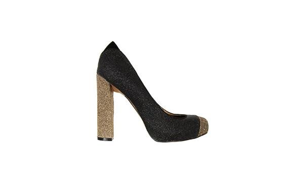 44dec7968c995 Sam Edelman Frances Black   Antique Gold Shoes 8  Amazon.co.uk  Shoes   Bags