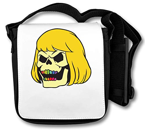Rainbow Teeth Skull Girl Schultertasche - Rainbow Fine Art