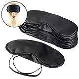 Czemo 10 piezza Antifaz para Dormir Máscara de Ojos Antifaz de Dormir Cubierta de Ojo de Viaje con Almohadilla de Nariz, Negro