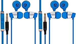 Jiyanshi Samsung Galaxy A9 Compatible Combo of Stylish Earphone With Deep Bass (Blue)