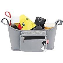 GudeHome Cochecito de almacenamiento organizador del cochecito de bebé bolsa de pañales bolso cambiador ybolsa de la cremallera extraíble