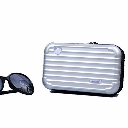 Anne Air Wash Bag Kit Reise-Kosmetiktasche Tasche Mini Trunk Wasserdicht PC Handtasche silber