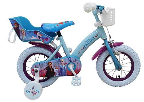 12 Zoll Kinderfahrrad Eiskönigin Fahrrad Dreirad Disney Frozen Anna & Elsa 51261-CH