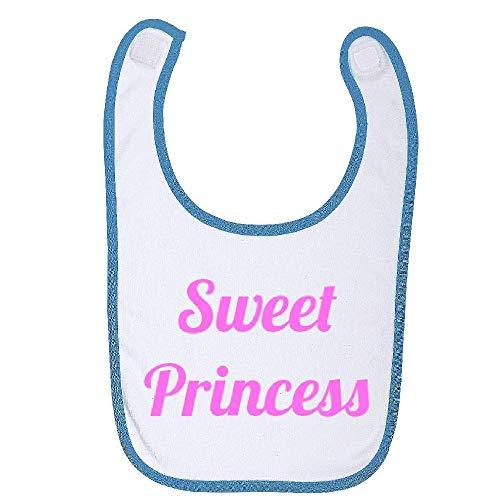 Bavoir bebe bleu auto agripant sweet princess