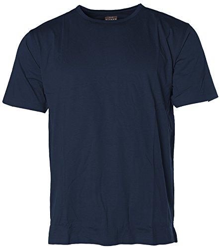 Kitaro Herren Basic Rundhals-T-Shirt in verschiedenen Farben Navy