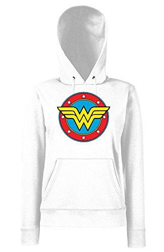 TRVPPY - Sweat Pull à capuche, modèle WONDERWOMAN - Femme, différentes tailles et couleurs Blanc
