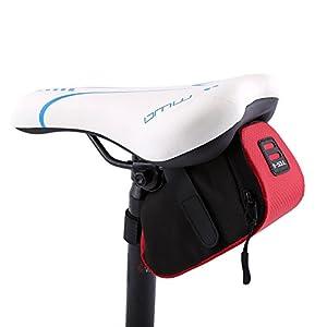 Bolso para Sillín Alforjas tija sillín de ciclismo Impermeable para Bicicletas de Montaña y de carretera Asiento Paquete (Rojo)