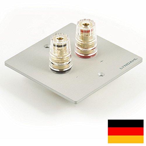 Lyndahl Highend Lautsprecherblende LKL001 für einen Lautsprecher, passend für einfach-Unterputzdose/Wandeinbaudose silber
