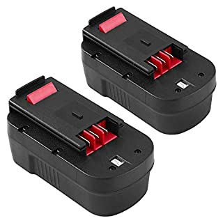 [2 Packs] Powayup 18V 3.0Ah Ni-Mh Replacement for Black and Decker Battery A18 A1718 A18NH A18E HPB18 HPB18-OPE HPB18-OPE2 244760-00 Firestorm EPC18 FSB18 FS180BX FS18BX FS18FL NST2118 Cordless Tools