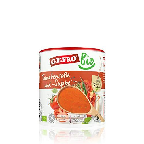 GEFRO BIO Tomatensoße und Tomatensuppe als eigenständige Suppe und Verfeinern