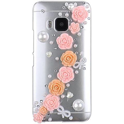 HTC One M9Custodia–EVTECH (TM) 3d Handmade lusso