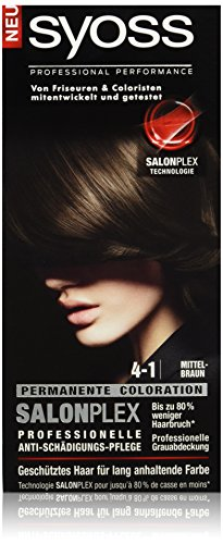 Syoss 4-1 Mittelbraun Haarfarbe, 3er Pack (3 x 115 ml)