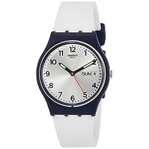 Swatch Reloj Digital de Cuarzo Unisex con Correa de Silicona – GN720