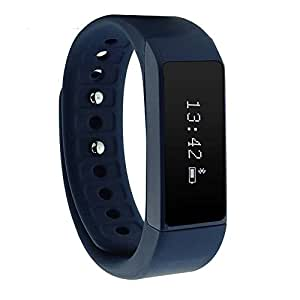 Acekool i5 Plus Smart Bracelet Bluetooth 4.0 Waterproof OLED Touch Screen Pedometer Tracker Wireless Activity Wristband Sport Smart Wristband Sleep Monitor Call Reminder for Smartphone (Blue)
