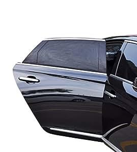 sonnenschutz f r auto heckscheibe 2 st ck sperrt uv strahlen sonnenlicht f r kinder schwarz. Black Bedroom Furniture Sets. Home Design Ideas