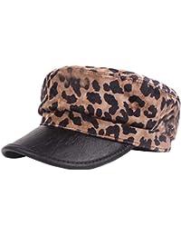 5fc69e295ae8e Gysad Sombrero Patrón de Leopardo Gorra Boina Mujer Sombrero Hombre Cálido  y Confortable ...