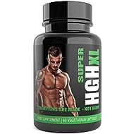 SUPER HGH XL Black Edition – 60 Capsules, 1-month Supply – Tribulus Terrestris, L Arginine, l Glutamine, Amino Acid – Sports Nutrition Supplement for Men by Natural Answers