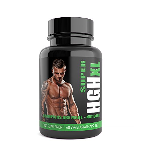 SUPER HGH XL Black Edition – 60 Capsules, 1-month Supply – Tribulus Terrestris, L Arginine, l Glutamine, Amino Acid – Sports Nutrition Supplement for Men by Natural Answers Test