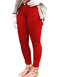 77c7ff4293a Vanilla Inc. Ladies Womens Skinny Plus Size Stretchy Fitted Jeggings Jeans  RED UK UK…