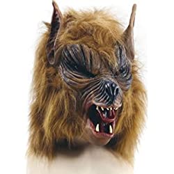 Brown She Wolf Werewolf Mask Halloween Fancy Dress (máscara/careta)