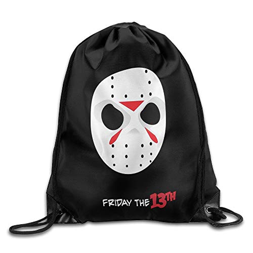 GONIESA Friday The 13th Jason Voorhees Mask Drawstring Backpack Bag