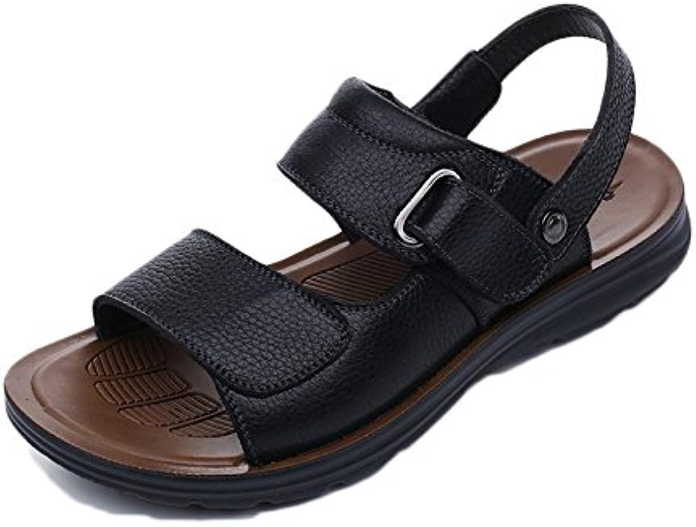 snfgoij Sandalias Para Hombres Deportes Al Aire Libre Ajustables Zapatos De Playa Cómodos Verano Punta Abierta