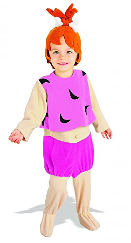 Pebbles Kostüm (The Flintstones Pebbles Kostüm Kinder Kinderkostüm Babykostüm Feuerstein Gr T-M,)