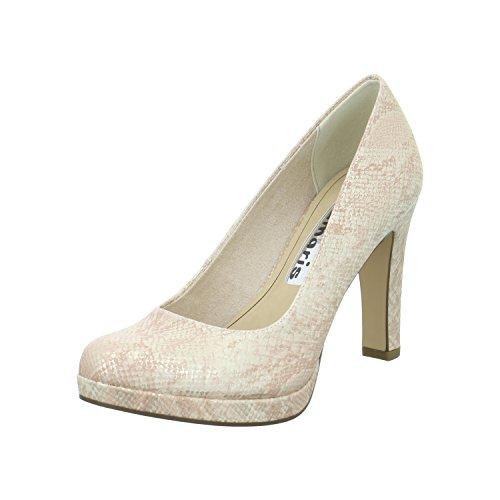 Tamaris 1-22426-28-511 Damen Schuhe Metallic Plateau Pumps High Heels , Schuhgröße:38;Farbe:Gold