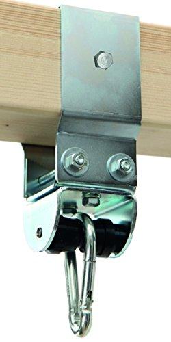 Schaukelschelle Kantholz 9 x 9 cm mit MARATHON Rollenlager