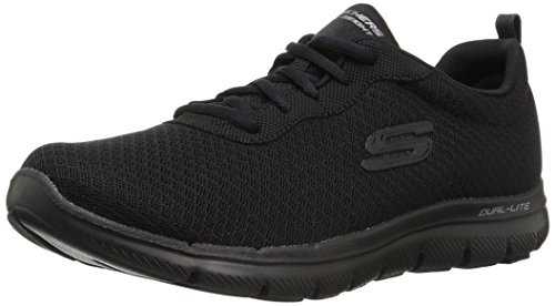 Skechers Damen Flex Appeal 2.0-Newsmaker Sneaker, Schwarz (Schwarz), 36 - Skechers-damen-mode
