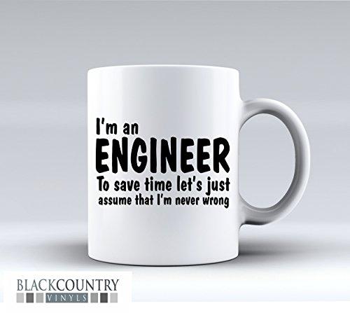 M100Ich bin ein Ingenieur Funny Design Neuheit Geschenk Idee Kaffee Tee Tasse aus Keramik