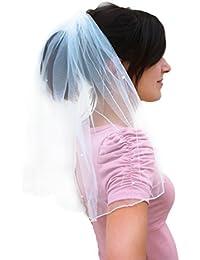 Braut-Glitzer 1 Schicht yhdcc44 Brautschleier Pflaumenbl/ütenkante ohne Kamm f/ür Hochzeit Pailletten bestickt 1,5 m