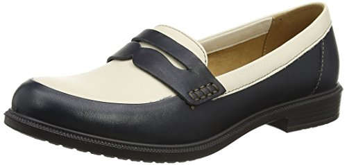 Hotter Dorset, Mocassins Femme Blue (Navy-Cream)