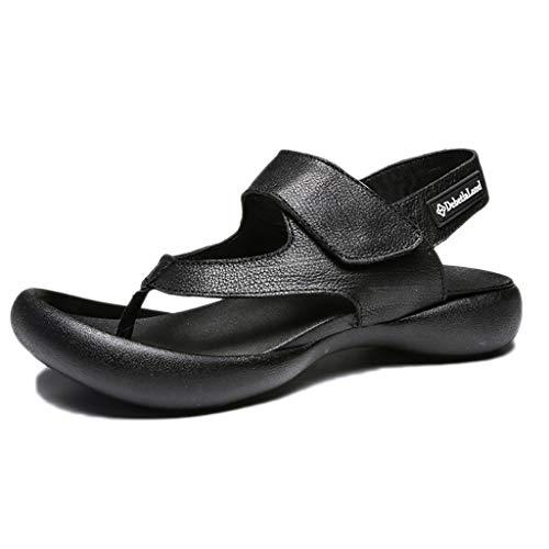 snfgoij Herren Sandalen Open Toe Casual Fischer Sandale Athletic Trekking Sommer dicken Boden japanische Mode Strandschuhe,Black-44 Athletic-open-toe-sandalen