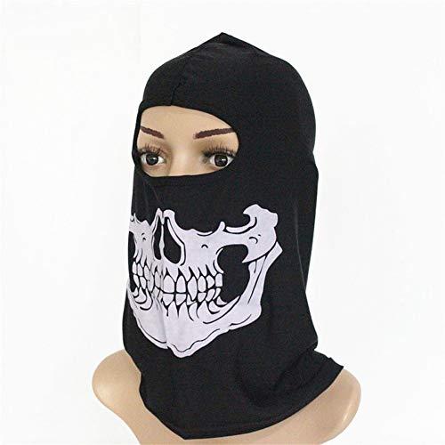 CGXBZA Männer Schädel Gesichtsmaske Radfahren Motorrad Winddicht Sun-Proof Vollgesichtsschutz Skeleton Hood Kostüm Maske (Heiße Gangster Kostüme)