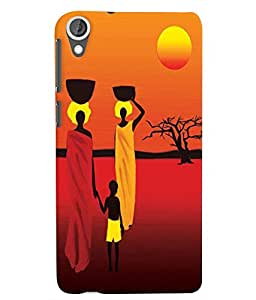 Citydreamz Abstract/Sunset/Village Modern Art Creative Hard Polycarbonate Designer Back Case Cover For HTC Desire 628/ HTC Desire 628 Dual Sim