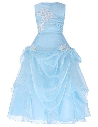 Kostüm Karin Cosplay (Prinzessin Blumenmaedchen kleid aermellos Abend Kleid 11-12 jahre)