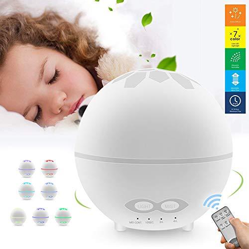 DAYNEW Humidificador ambientador Difusor de Aromaterapia,400ML Difusor de Aceites Esenciales,Humidificador...