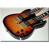 JIMMY PAGE Miniatur Gitarre Gibson SG Doubleneck Sunburst