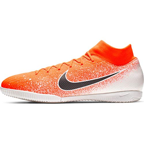 Nike Superfly 6 Academy IC, Scarpe da Calcetto Indoor Unisex-Adulto, Multicolore (Hyper Crimson/Black/White 000), 40.5 EU