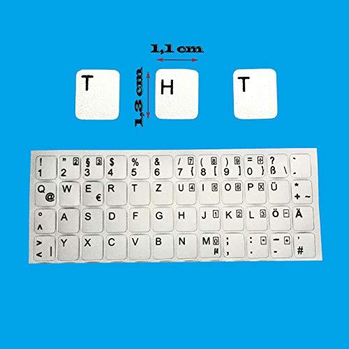 Kompatibel mit Notebook Sony vaio PCG DEUTSCHE Tastaturaufkleber- Silber MATT 48 Tasten 1,1 cm x 1,3 cm Tastatur Aufkleber Selbstkleben