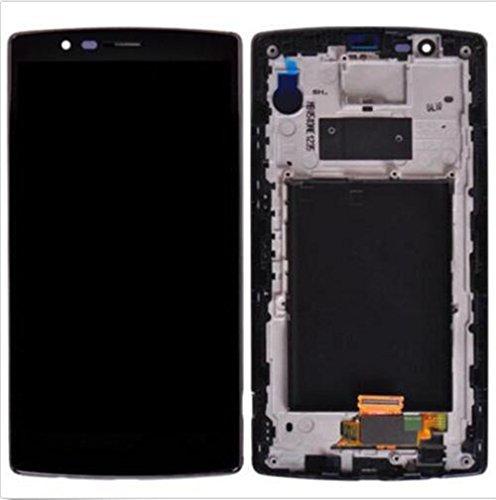 LCD Display + Touchscreen Digitizer + Rahmen Ersatz Bildschirm für LG G4 H810 H811 H815 VS986 LS991 SCHWARZ (Handy-ersatz-bildschirm Lg)