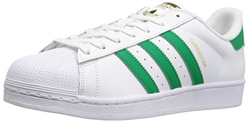 Adidas Mens Superstar Foundation Leather Trainers White/Fairway/Metallic/Gold